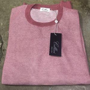 Cellini Men's Italian Knit Crew Neck Sweater